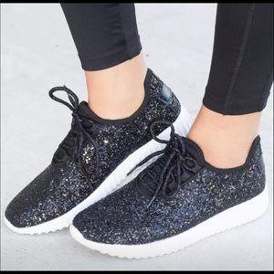 Shoes - Black glitter boutique shoes